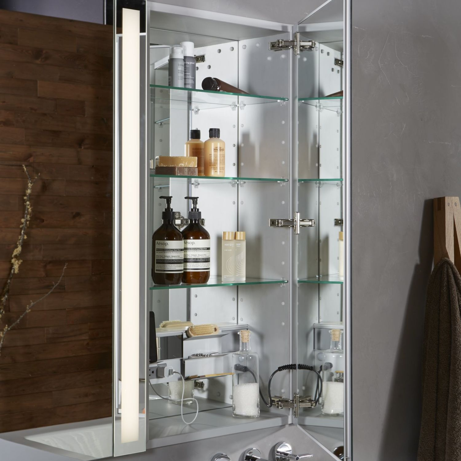 """Additional M Series 23-1/4"""" X 39-3/8"""" X 6"""" Flat Top Cabinet With Polished Edge and Right Hinge"""