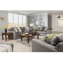3289-10 SOFA IN COBBLESTONE (2844) WITH PILLOWS (2845/28 CANARY)
