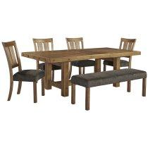 Tamilo - Gray/Brown 6 Piece Dining Room Set Product Image