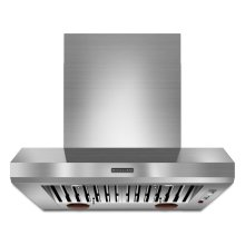 36'' Wall-Mount 600-1200 CFM Canopy Hood, Commercial-Style Stainless Steel