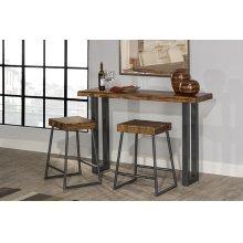Emerson Sofa Table and (2) Non-swivel Counter Stools