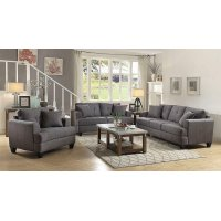 Samuel Transitional Charcoal Loveseat Product Image