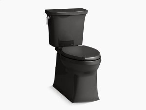 Black Black Comfort Height Two-piece Elongated 1.28 Gpf Toilet With Skirted Trapway and Revolution 360 Swirl Flushing Technology and Left-hand Trip Lever, Seat Not Included Product Image