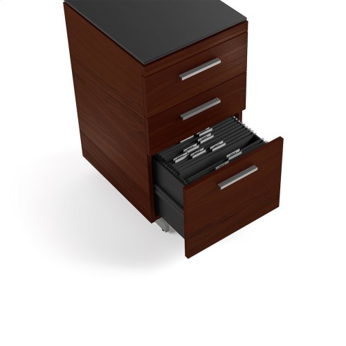 3 Drawer File Cabinet 6014 in Chocolate Stained Walnut