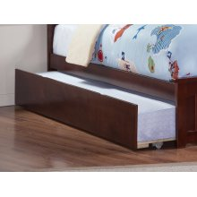 Urban Trundle Bed Twin/Full in Walnut