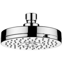 "Chrome Plate 4 3/4"" Dual function easy clean shower head"