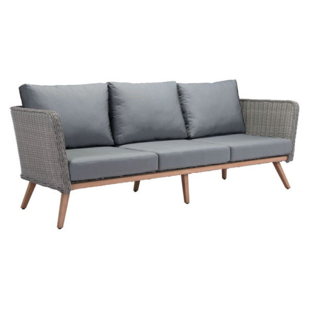 Monaco Sofa Natural & Gray
