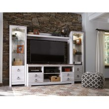 Willowton - Whitewash 4 Piece Entertainment Set