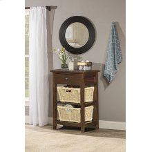 Tuscan Retreat® 2 Basket Stand - Rustic Mahogany