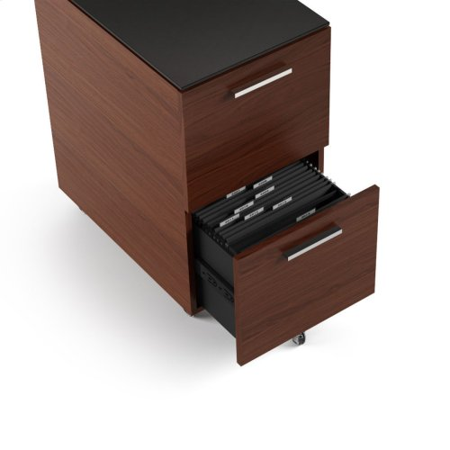 Mobile File Cabinet 6005 in Chocolate Stained Walnut