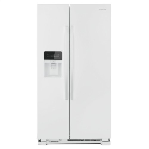 36-inch Side-by-Side Refrigerator with Dual Pad External Ice and Water Dispenser White **OPEN BOX ITEM** West Des Moines Location