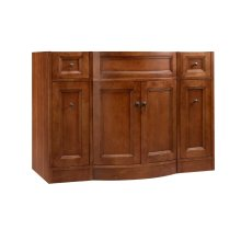 "Marcello 48"" Bathroom Vanity Cabinet Base in Colonial Cherry"