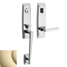 Lifetime Polished Brass Palm Springs 3/4 Escutcheon Handleset