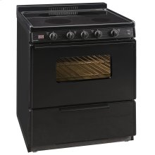 30 in. Freestanding Smooth Top Electric Range in Black