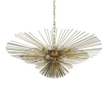 Urchin Chandelier In Antique Brass