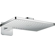 Chrome Overhead shower 460/300 2jet with shower arm and softcube escutcheon