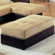 Brown Storage Ottoman
