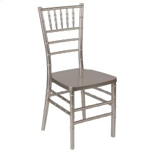 Pewter Resin Stacking Chiavari Chair