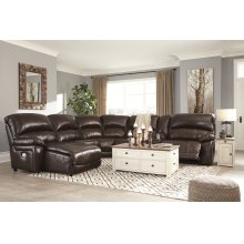 Hallstrung - Chocolate 5 Piece Sectional