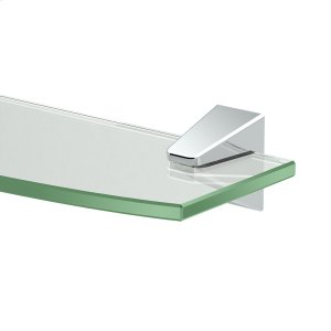 Quantra Glass Shelf in Chrome Product Image