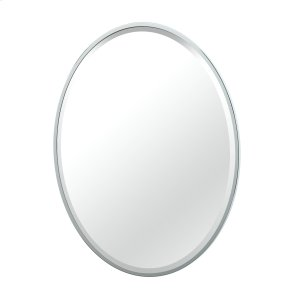 Flush Mount Framed Oval Mirror in Chrome Product Image