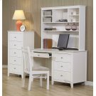Selena Contemporary White Desk Product Image