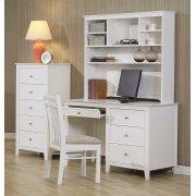 Selena Contemporary White Desk Product Image