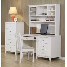 Selena Contemporary White Desk