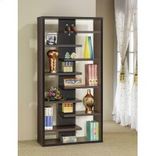 Casual Dark Cappuccino Bookcase