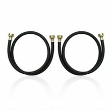 4' Residential Washer Hoses - 2 Pack - Black