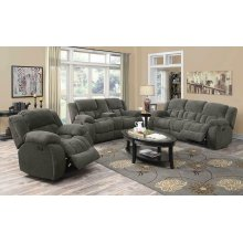 Weissman Grey Reclining Loveseat