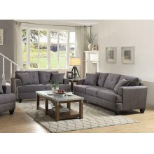 Samuel Charcoal Two-piece Living Room Set