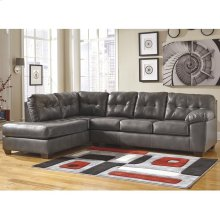 Signature Design by Ashley Alliston Sectional with Left Side Facing Chaise in Gray DuraBlend