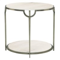 Morello Round Metal End Table Product Image