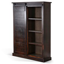 Bookcase w/ Barn Door