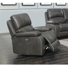 Ravenna Casual Charcoal Power Glider Recliner