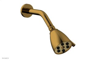 """6 Jet BASIC 2-3/4"""" Round Shower Head D830 - French Brass Product Image"""