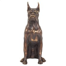 Bronze Guard Dog Sculpture, Small