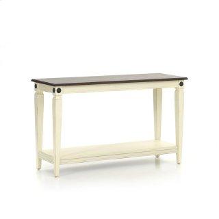 Room Glennwood Sofa Back Table  White & Charcoal