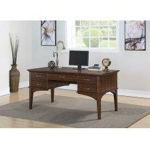Craftsman Golden Brown Office Desk