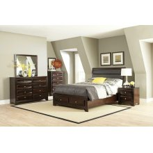 Jaxson Transitional Cappuccino Queen Bed
