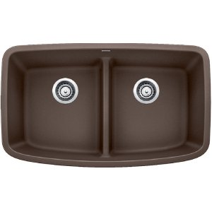 Blanco Valea® Equal Double Bowl With Low-divide - Café Brown