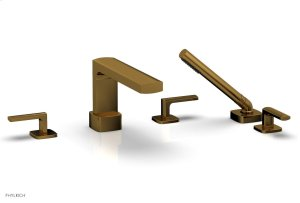 RADI Deck Tub Set with Hand Shower - Lever Handles 181-49 - French Brass Product Image