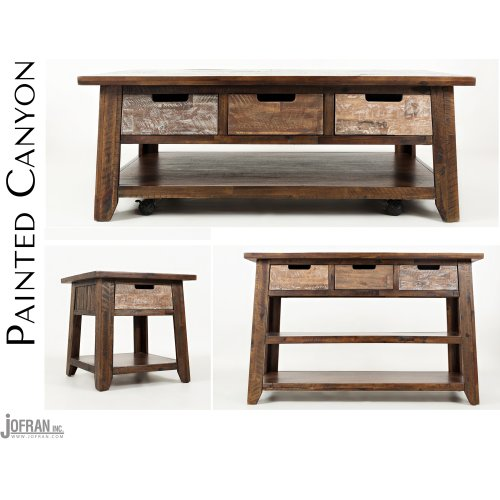Painted Canyon End Table