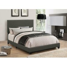Boyd Upholstered Charcoal Queen Bed