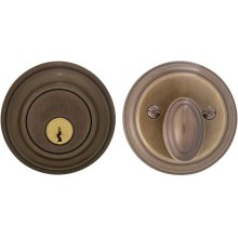 Traditional Auxiliary Deadbolt Kit in (SB Shaded Bronze, Lacquered)