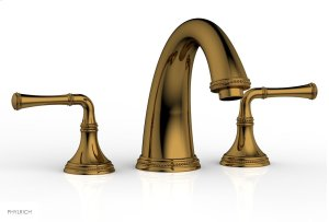 BEADED Deck Tub Set - Lever Handles 207-40 - French Brass Product Image