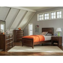 Greenough Transitional Maple Oak Twin Five-piece Set