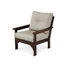 Mahogany & Cast Ash Vineyard Deep Seating Chair