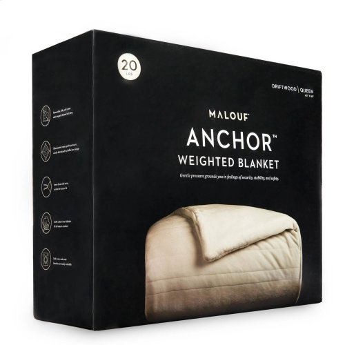 """Malouf Weighted Blanket, 48"""" x 72"""", 15 lbs, Driftwood"""